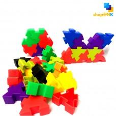 (HL6131) Puzzle Toys Block Triangle Color